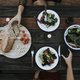 Salad and bread on a wooden table - PhotoDune Item for Sale