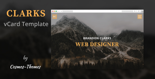 Portfolio & Resume - Clarks Portfolio / Resume Template