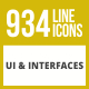 934 UI & Interfaces Line Inverted Icons - GraphicRiver Item for Sale