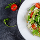 Dietary salad with tomatoes, blue cheese, avocado, arugula and p - PhotoDune Item for Sale
