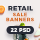 Retail Sale Ad Banners - GraphicRiver Item for Sale