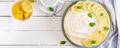 Tart with lemon curd  and meringue. Lemon  pie. American cuisine - PhotoDune Item for Sale