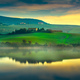 Tuscany, Santa Luce lake panorama on sunset, Pisa, Italy - PhotoDune Item for Sale