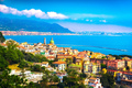 Vietri sul Mare town in Amalfi coast, panoramic view. Salerno It - PhotoDune Item for Sale