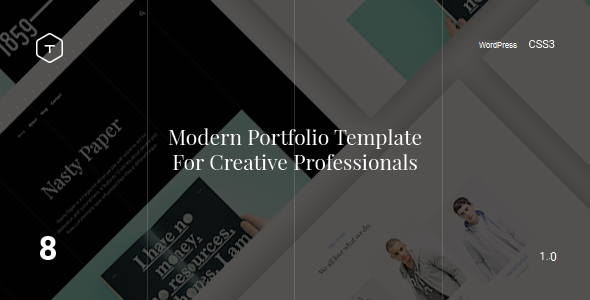 Eight - Responsive Portfolio WordPress Theme