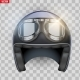 Vintage Motorcycle Helmet with Goggles - GraphicRiver Item for Sale