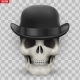Human Skull with Hat Bowler - GraphicRiver Item for Sale