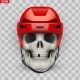 Vector Human Skull with Ice Hockey Helmet - GraphicRiver Item for Sale