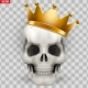 Vector Human Skull with King Golden Crown - GraphicRiver Item for Sale