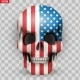 Skull with USA Flag - GraphicRiver Item for Sale