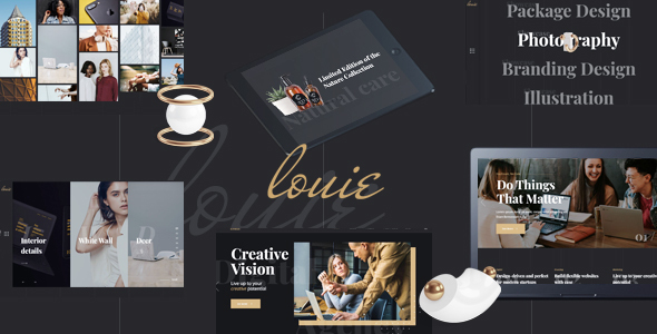 Download Louie – Modern Portfolio Theme for Agencies nulled 01 preview