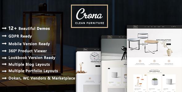 Crona - Luxury Furniture Architecture WooCommerce WordPress Theme - WooCommerce eCommerce