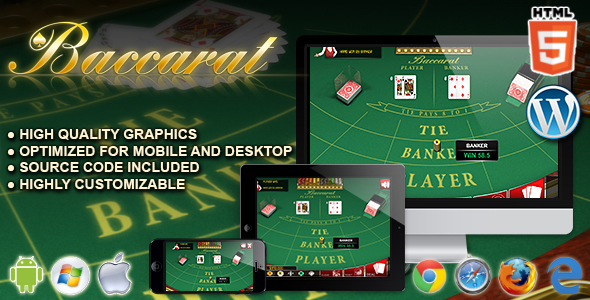 Baccarat - HTML5 Casino Game - CodeCanyon Item for Sale