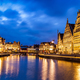 Ghent canal, Graslei and Korenlei streets in the evening. Ghent - PhotoDune Item for Sale