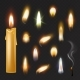 Candle Flame Vector Fired Flaming Candlelight - GraphicRiver Item for Sale