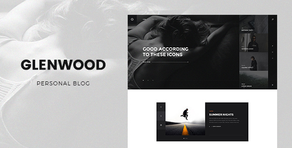 Glenwood - Personal Blog Template - Personal PSD Templates