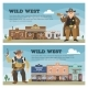 Wild West Vector Cowboy Character Saloon Western - GraphicRiver Item for Sale