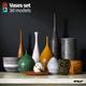 Vases set - 3DOcean Item for Sale