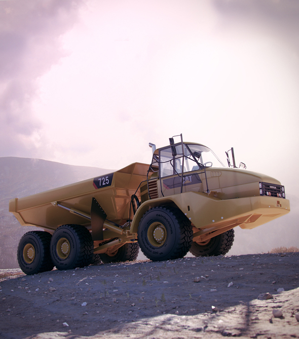 Caterpillar 725 Articulated Truck - 3DOcean Item for Sale