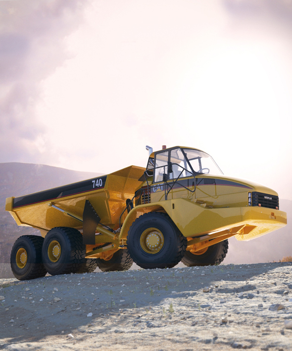 Caterpillar 740 - 3DOcean Item for Sale