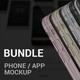Bundle Phone / App Screen Mockup / UI - GraphicRiver Item for Sale