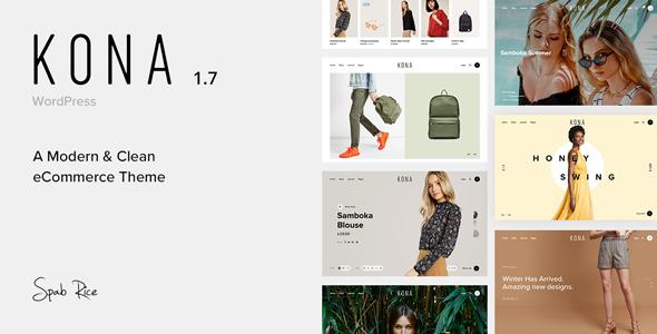 Kona - Modern & Clean eCommerce WordPress Theme - WooCommerce eCommerce