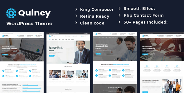 Quincy - Business Consulting WordPress Theme - Business Corporate