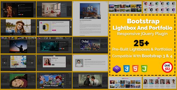 Bootstrap Lightbox And Portfolio Responsive jQuery Plugin