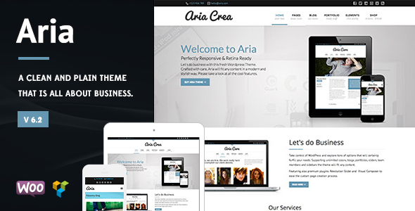 Aria - Pure Business WordPress Theme - Business Corporate