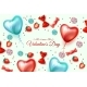 Vector Happy Valentine Day Heart Balloon Candy - GraphicRiver Item for Sale