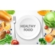 Vector Healthy Food, Organic Fruit at Served Table - GraphicRiver Item for Sale