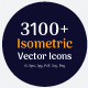 3100+ Isometric Vector Icons - GraphicRiver Item for Sale