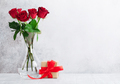 Valentine's day greeting card with roses - PhotoDune Item for Sale