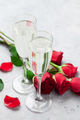 Valentine's day greeting card with champagne - PhotoDune Item for Sale