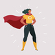 Smiling Superhero Woman - GraphicRiver Item for Sale