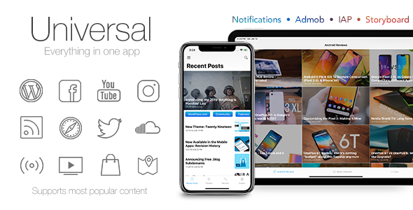 Universal for IOS - Full Multi-Purpose IOS app - CodeCanyon Item for Sale