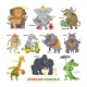 African Animals Vector - GraphicRiver Item for Sale