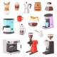Coffee Machine Vector Coffeemaker and Coffee - GraphicRiver Item for Sale