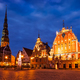 Riga Town Hall Square, House of the Blackheads, St. Roland Statu - PhotoDune Item for Sale