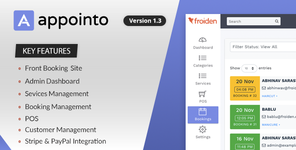 Appointo - Booking Management System - CodeCanyon Item for Sale