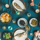 Flat-lay of people eating fish and drinking beer, wide composition - PhotoDune Item for Sale