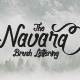 Navara - Brush Font - GraphicRiver Item for Sale