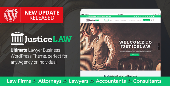 JusticeLAW - A Theme for Lawyers and Consultants - Business Corporate