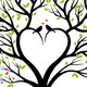 Love Tree With Heart And Birds, Vector - GraphicRiver Item for Sale