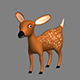 Fawn 3D Model Cartoon - 3DOcean Item for Sale