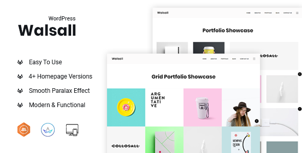 Walsall - Minimal Digital Agency WordPress Theme - Portfolio Creative