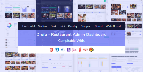 Drora – Bootstrap Restaurant Admin Dashboard HTML Template | Bootstrap4
