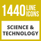 1440 Science & Technology Line Inverted Icons