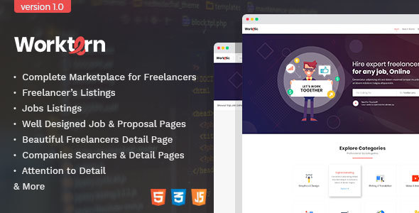 Worktern - Marketplace For The Freelancers - Business Corporate