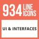 934 UI & Interfaces Line Multicolor B/G Icons - GraphicRiver Item for Sale
